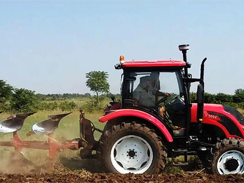 100hp tractor with furrow plough