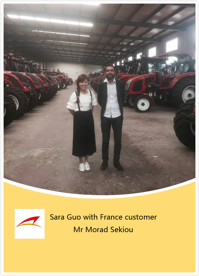 France Customer Visit Chalion Tractor