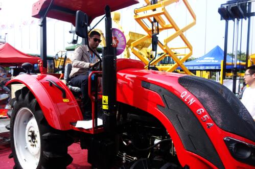 Chalion tractor with customer